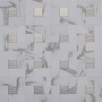 Instant Mosaic tiles add a luxurious touch into your kitchens, bathrooms or feature walls; affordable elegance for any contemporary, traditional or transitional roomsEasy to install: no glue or grout needed, just peel and stick; superior adhesion on most flat, dry and free of dust surfaces and tiles can be applied over drywall or existing tilesChemical Resistance: NoColor/Finish Family: WhiteCommon Measurement (L x W): 12-in x 12-inDry Coefficient of Friction: 0.4Edge Style: Slight rounded…