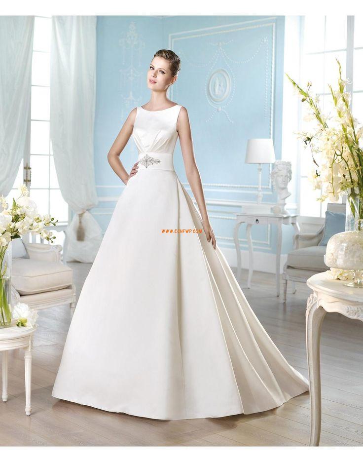 Coda a Strascico Corto Vestitini bianchi Raso Abiti Da Sposa 2014