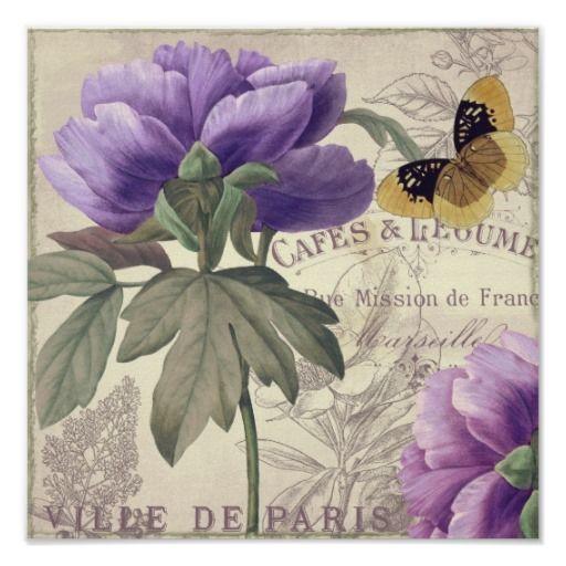 Pétalos de París III Posters