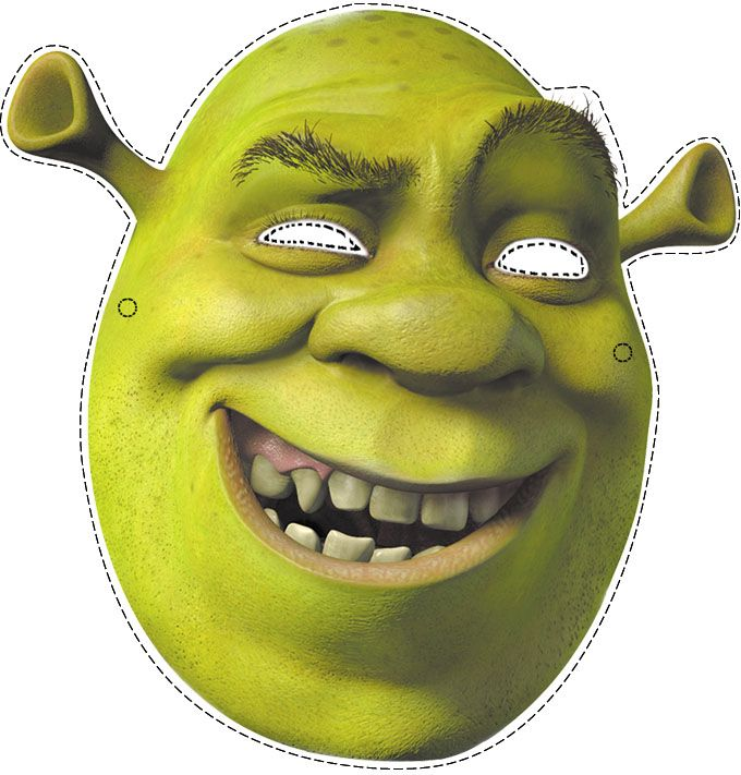 halloween mask craft ideas photo booth props shrek ideas for 4613