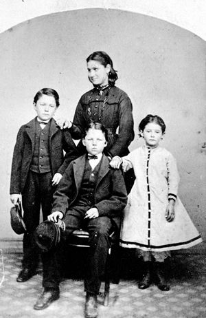 John and Cecelia's surviving children,; Harry, James, Amy, Edith