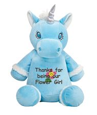Blue Unicorn with a personal message