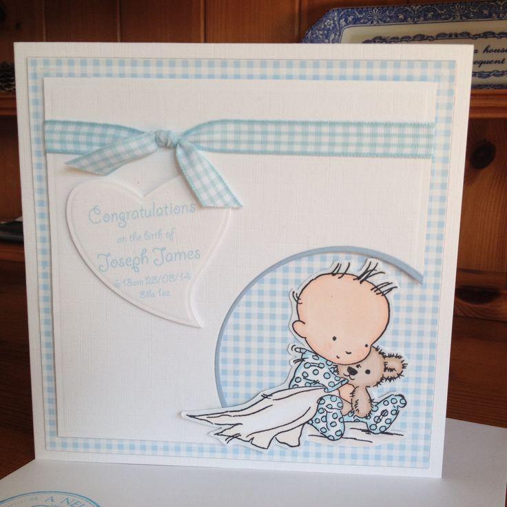 Wonderful Card Making Ideas New Baby Boy Part - 14: New Baby Card Using A LOTV Stamp. New Baby CardsBaby Boy ...