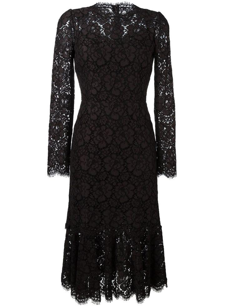 Dolce & Gabbana кружевное платье с оборками