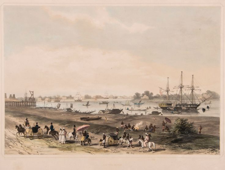 Garden Reach, from 'Views of Calcutta and its Environs', Charles D'Oyly, c1833
