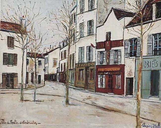 Place du tertre par Maurice Utrillo (1883 - 1955)