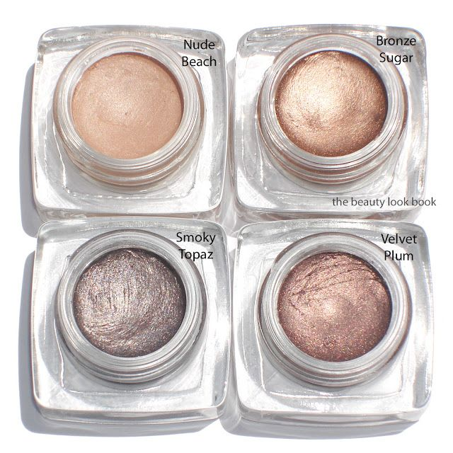 The Beauty Look Book: Bobbi Brown Long-Wear Cream Shadows/ nude beach & velvet plum