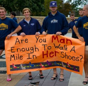 Mount St. Mary's students, staff don heels for to raise money and awareness for domestic violence victims