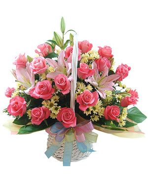 Best Wishes, best wishes flower basket to China by Chinaflowers.net - basket to China