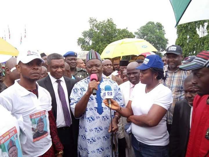 """Benue State Governor Samuel Ortom today disclosed that he was seeking God's leading to contest for a second term in 2019 or not. He made the disclosure when a group which marched to the Benue People's House in Makurdi today to express solidarity with the State Governments anti-open grazing law also requested him to recontest the governorship election in 2019. The Governor who quoted from the Holy Bible said """"a man shall receive nothing except it is given to him from above"""" said he would seek…"""