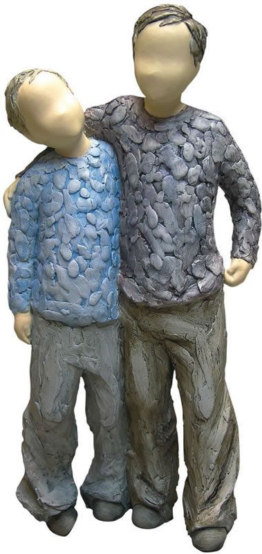 My Brother-Statue of Brothers. Available at AllSculptures.com