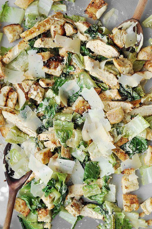 Grilled Chicken Caesar Salad with homemade caesar dressing