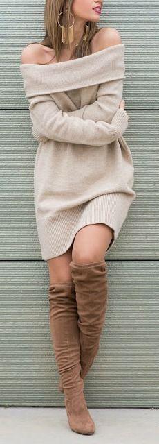 Best 25  Off shoulder sweater ideas on Pinterest | Long tops for ...