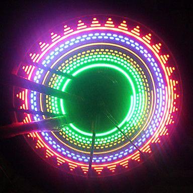 1pcs fiets licht fiets Spokelit geleid veiligheid licht voor fiets wielen 32 patronen (3xAAA) - EUR € 9.79