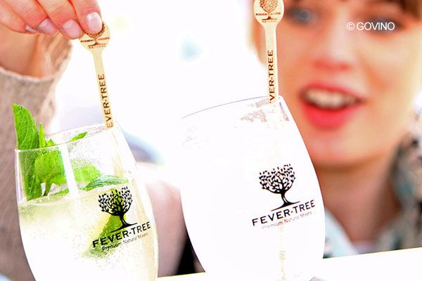 Fever Tree monogrammed govino cocktail glasses