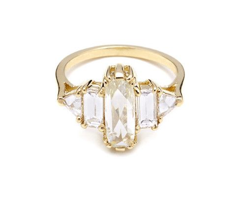 Incredible diamond engagement ring by @Anna Sheffield