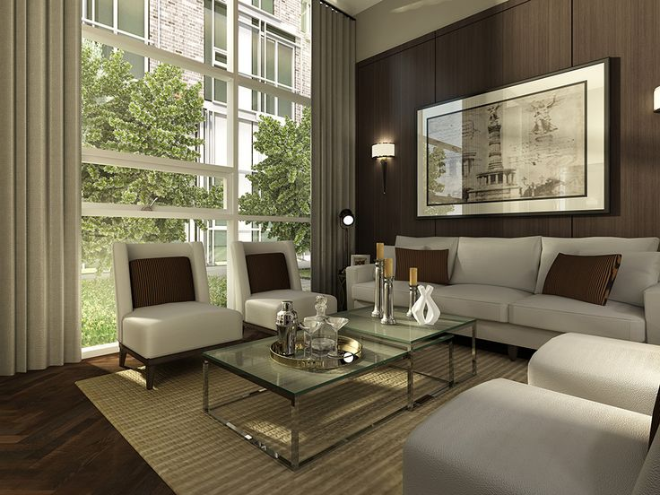 Signature Townhome Living Room Rendering Sims 4Small