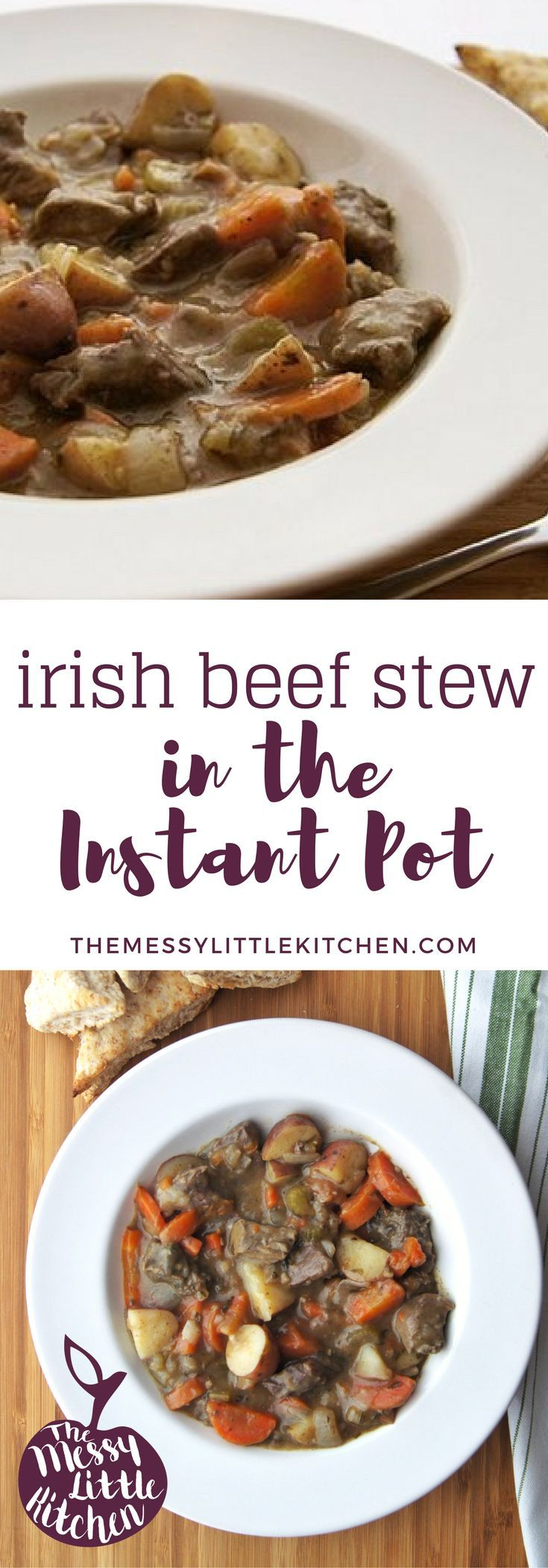 Perhaps you're planning an Irish themed party, or simply looking for ideas for St. Patrick's Day dishes. Regardless, this delicious, fast and easy Irish Beef Stew in the Instant Pot is one that you can throw almost effortlessly into your pressure cooker and it is sure to become a new family favourite! Hearty, loaded with veggies, and requiring only a few minutes of preparation for a delicious, rich flavour as though it was simmering all day!