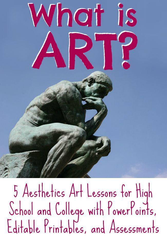 Art And Aesthetics Lesson Bundle