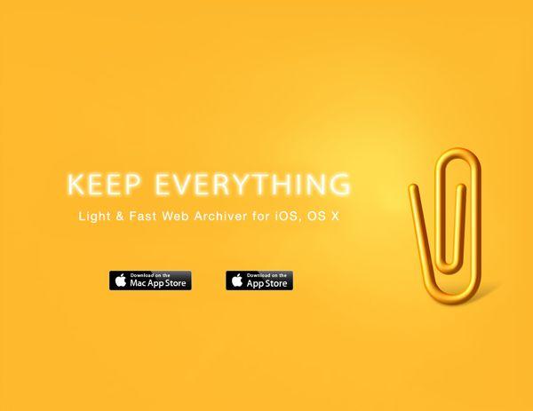 Keep Everything Website Design by Moonhee Jung, via Behance