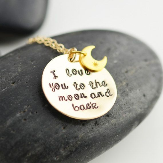 Personalized Jewelry, I Love You To The Moon And Back