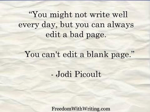 You can't edit a blank page | Jodi Picoult