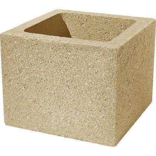 element_de_pilier_en_beton__teinte__h_25_x_l_30_x_p_30_cm