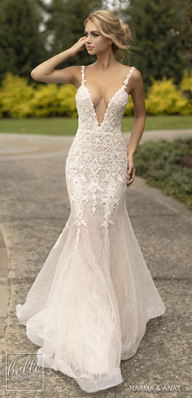 Naama And Anat Wedding Dresses 2019 Gowns Of Wisdom Collection Wedding Dress Couture Wedding Dresses Fit And Flare Wedding Dress