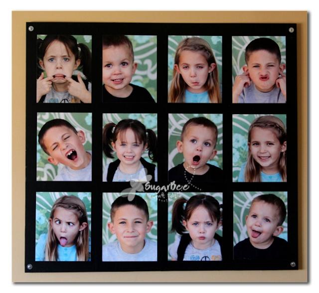 Sugar Bee Crafts: Photo Wall Art - Portrait Display