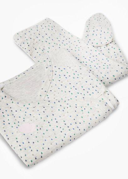 Długa piżama w groszki   MANGO KIDS