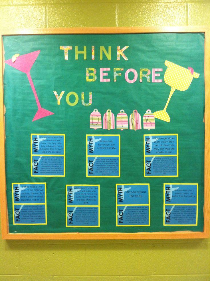Alcohol Awareness bulletin board