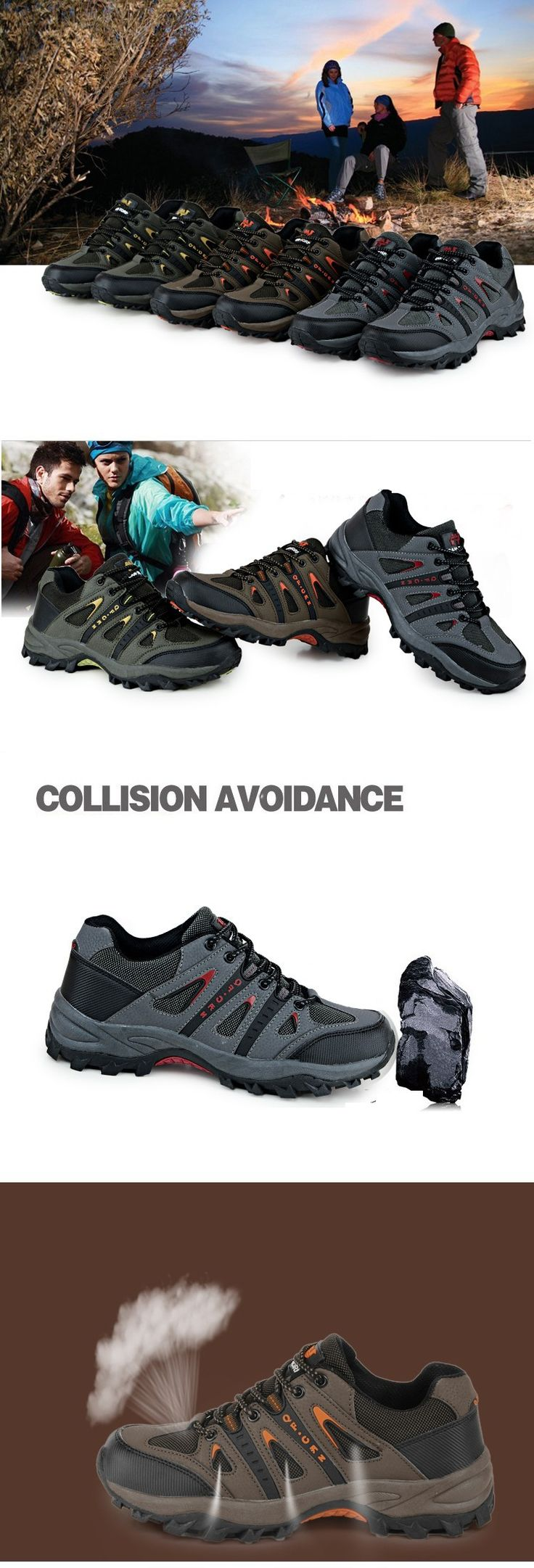 Wholesale China Anti-Skid Mountain Climbing Boots Breathable Outdoor Hiking  Shoes MAN Women B2B Online