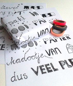 Free printable... Sinterklaas (gedicht) cadeaupapier