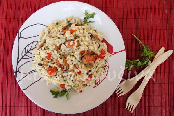 μικρή κουζίνα: Ριζότο με μύδια