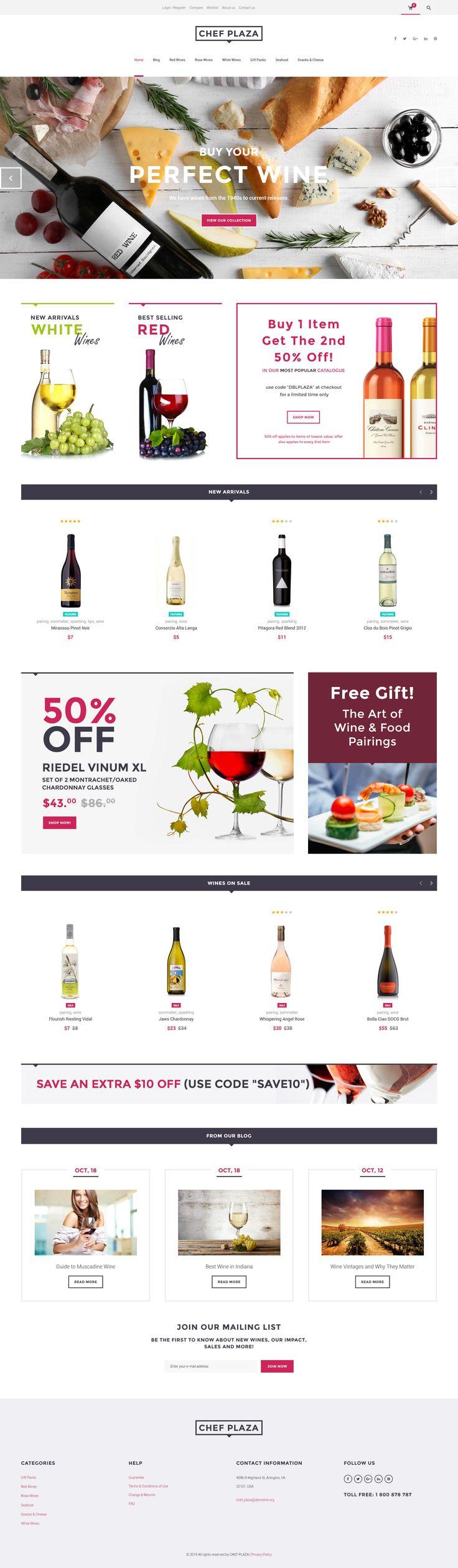Wine Bar WooCommerce Theme - https://www.templatemonster.com/woocommerce-themes/61302.html
