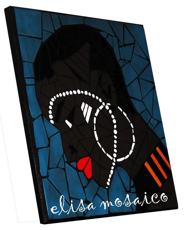 """""""AFRICA"""" Quadro mosaico di piastrelle"""