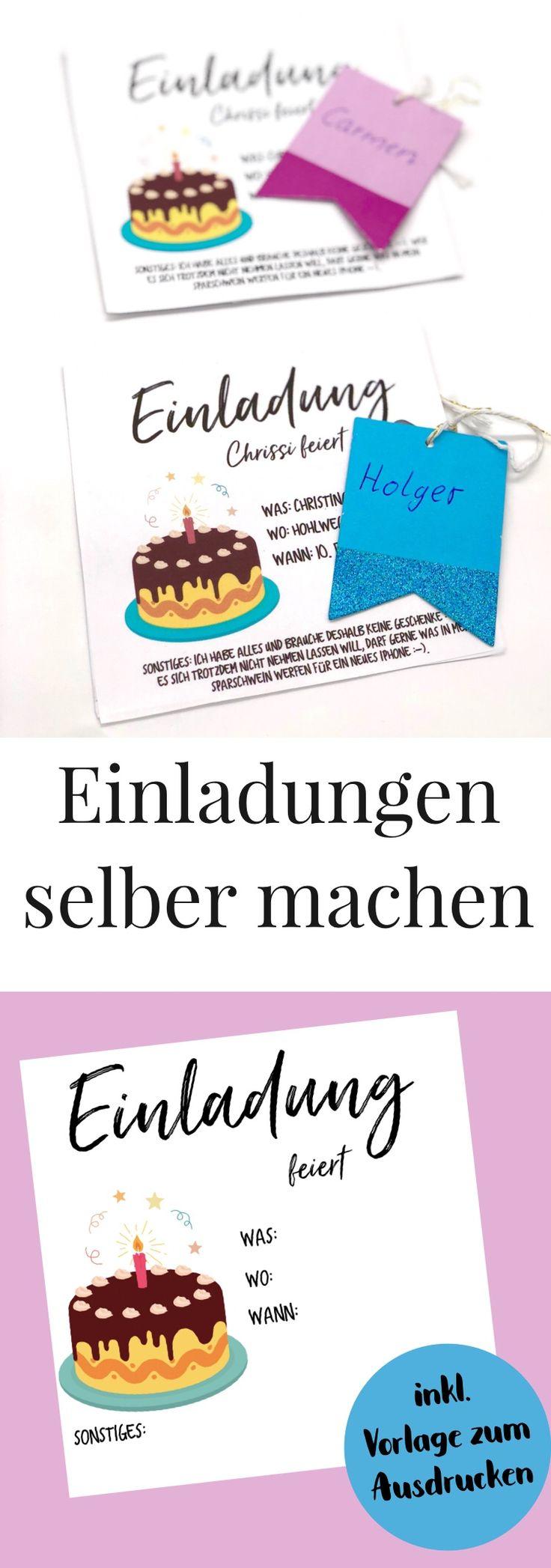 Der Geburtstag von Euch oder Euren Liebsten steht vor der Tür und Ihr möchtet gerne Eure Einladungskarten selbst gestalten? Dann habe ich in diesem Blog Beitrag eine super einfache DIY Idee für Euch, wie Ihr Euch Eure Einladungskarten selbst gestalten... #diyblog #diyideen #einladunggeburtstag
