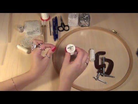 Материалы для курса по тамбурной вышивке ( вышивка люневильским крючком, люневильская вышивка ) - YouTube