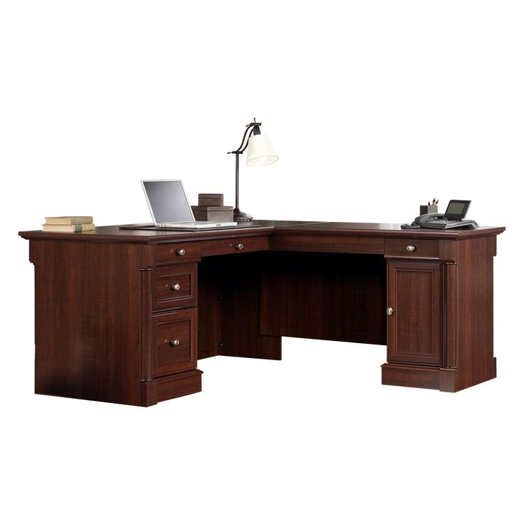 Sauder Palladia L Shaped Desk Select Cherry