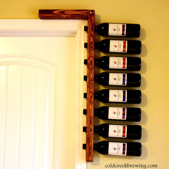 Rustic Wine Rack - Wine Rack - Wine Bottle Holder - Bridesmaid Gift - Anniversary Gift - Barware on Etsy, $45.00
