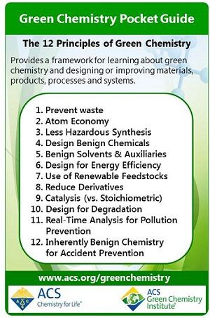 12 Principles of Green Chemistry  Green Chemistry Pocket Guide