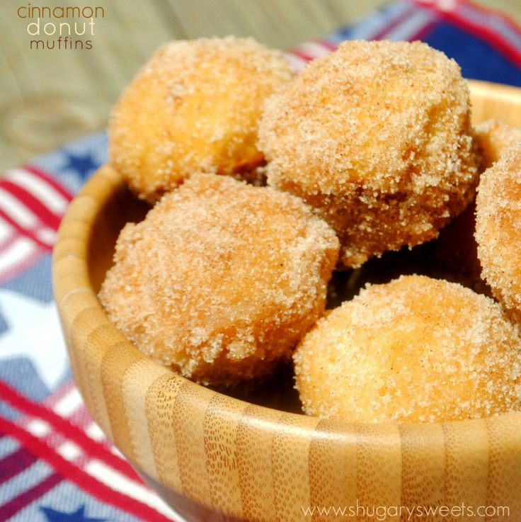 Cinnamon Muffins: easy breakfast muffins rolled in cinnamon/sugar. Perfect for the freezer too!
