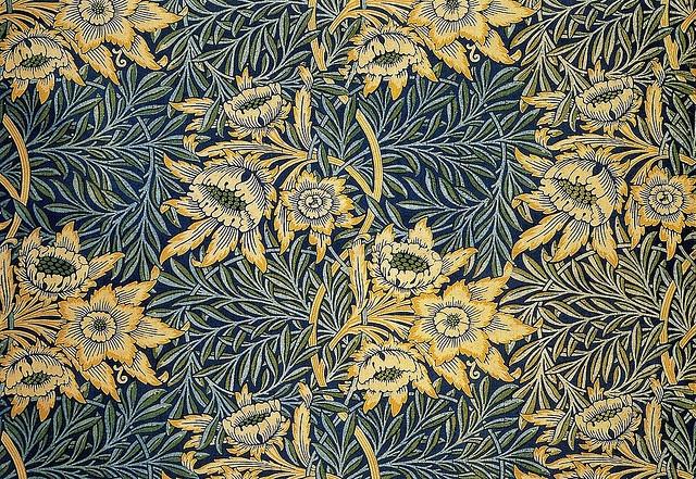 Tulip & Willow Pattern, Furnishing Fabric   William Morris   Deigned 1873