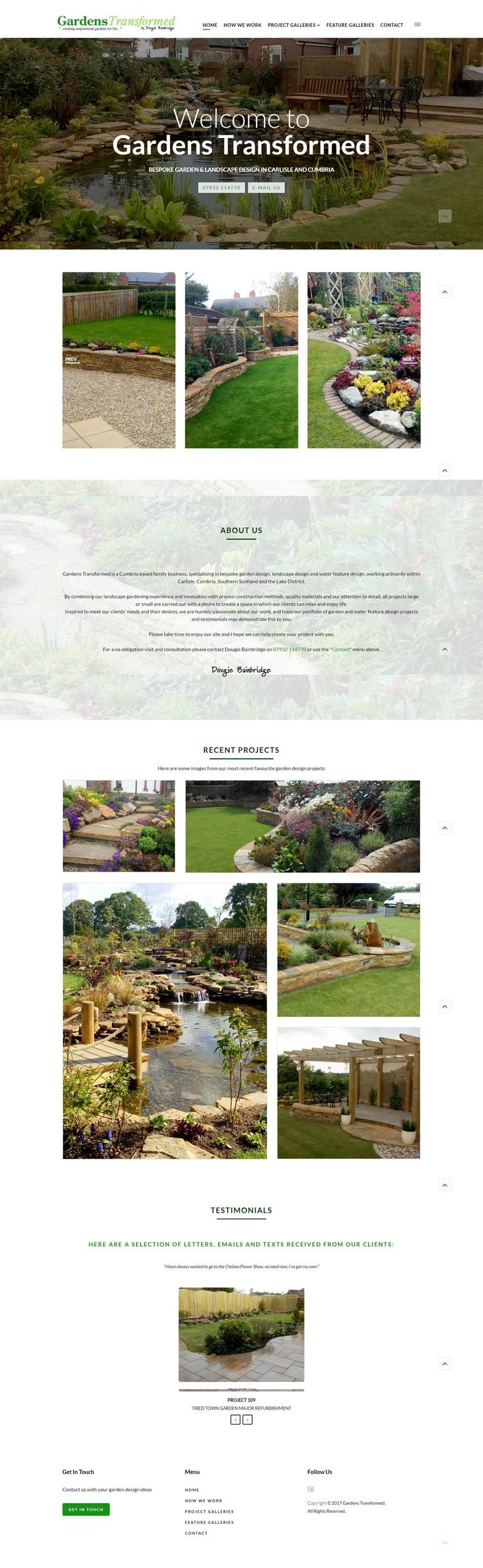 A complete redesign of the website which started us off back in 2014, Gardens Transformed....version 2 :)