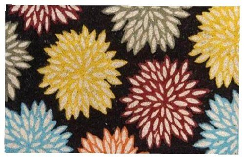 Nach Multi-Color Flower Floor Mat, Coir, Bleached with Vinyl Back by NACH. $31.25. Color is dyed into the coir fiber, not just a stamped image. Textured rubber mat. Coir fiber is bleached to achieve more vibrant color. Multi-Color Flower Floor Mat, Coir, bleaced with Vinyl back
