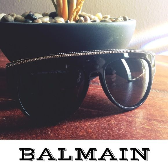 BALMAIN Chain Embellished Aviator Sunglasses These sizzling hot sunnies are like new. I saw them online and just HAD to have them. Unfortunately, they don't look so good on me. Naomi aviators in black. Spring 2016 collection. Very sturdy, well made in France. Worn once. Will send in generic (not Balmain, sorry) case. NOT a collaboration, these are auth Balmains purchased from Neiman's Last Call. Full retail was $658. I'm willing to entertain offers. 🌺Host Pick 7/16🌺 Balmain Accessories…
