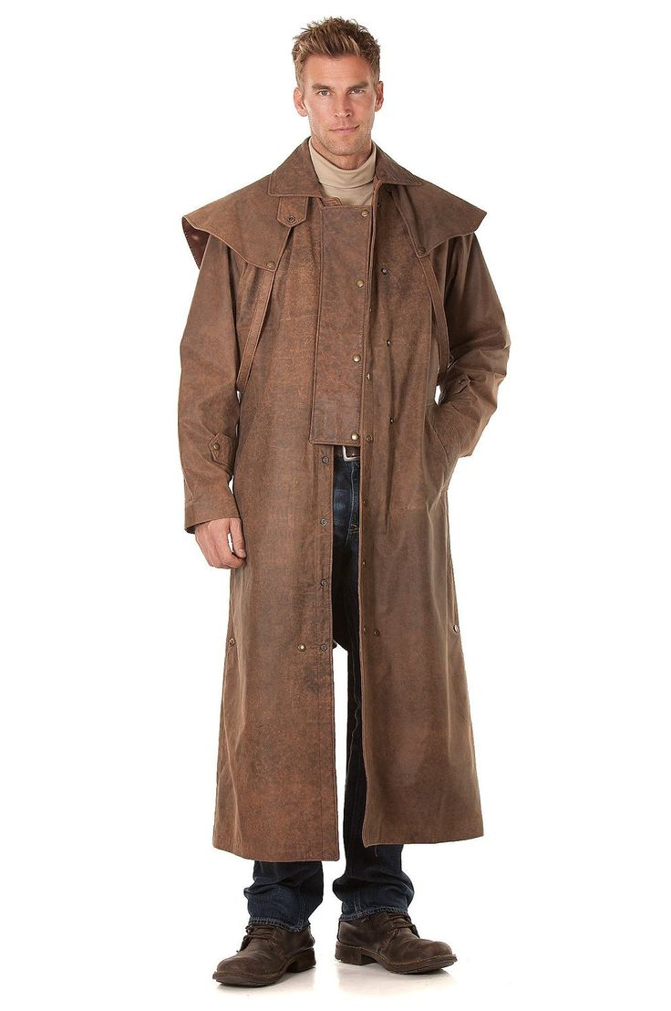 Montgomery Lambskin Leather Duster with Cape at Amazon Men's Clothing store: Leather Outerwear Jackets