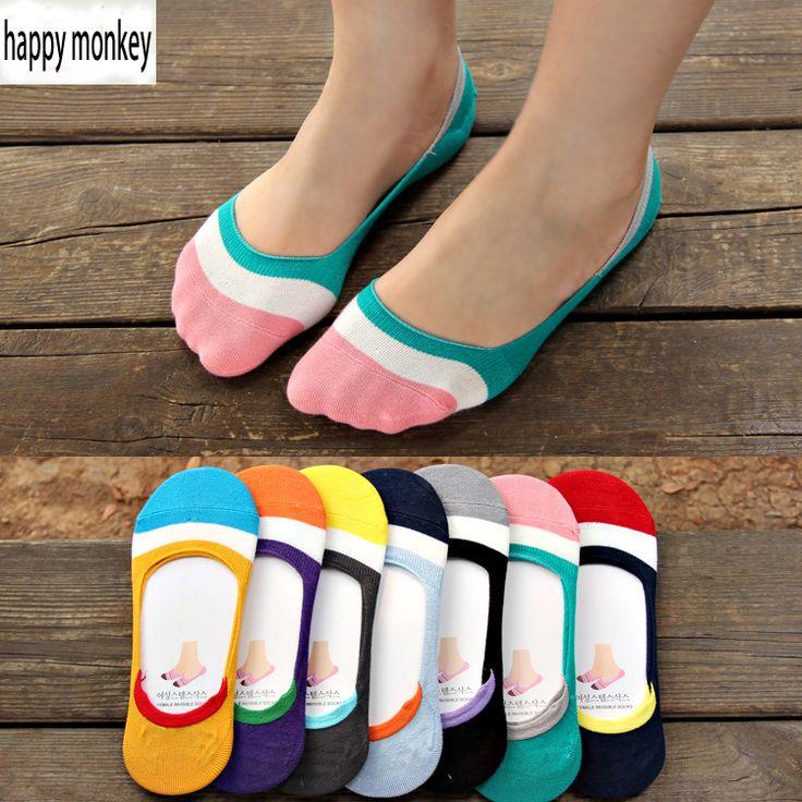 2016 10 шт. = 5 пар новой весны и лета силиконовый невидимый противоскользящие носки женщин носки летние женские невидимый носки