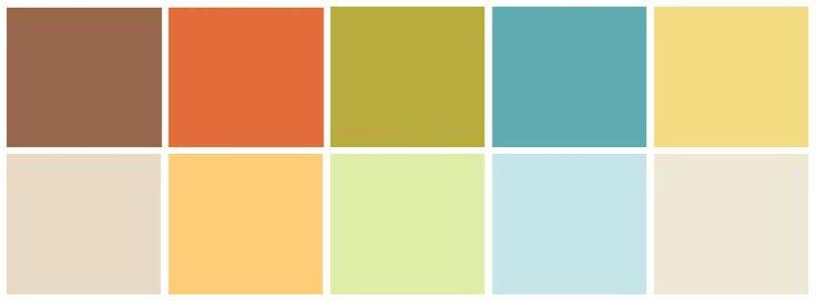 Mezcla de ambas paletas de colores enfrentadas sin madera