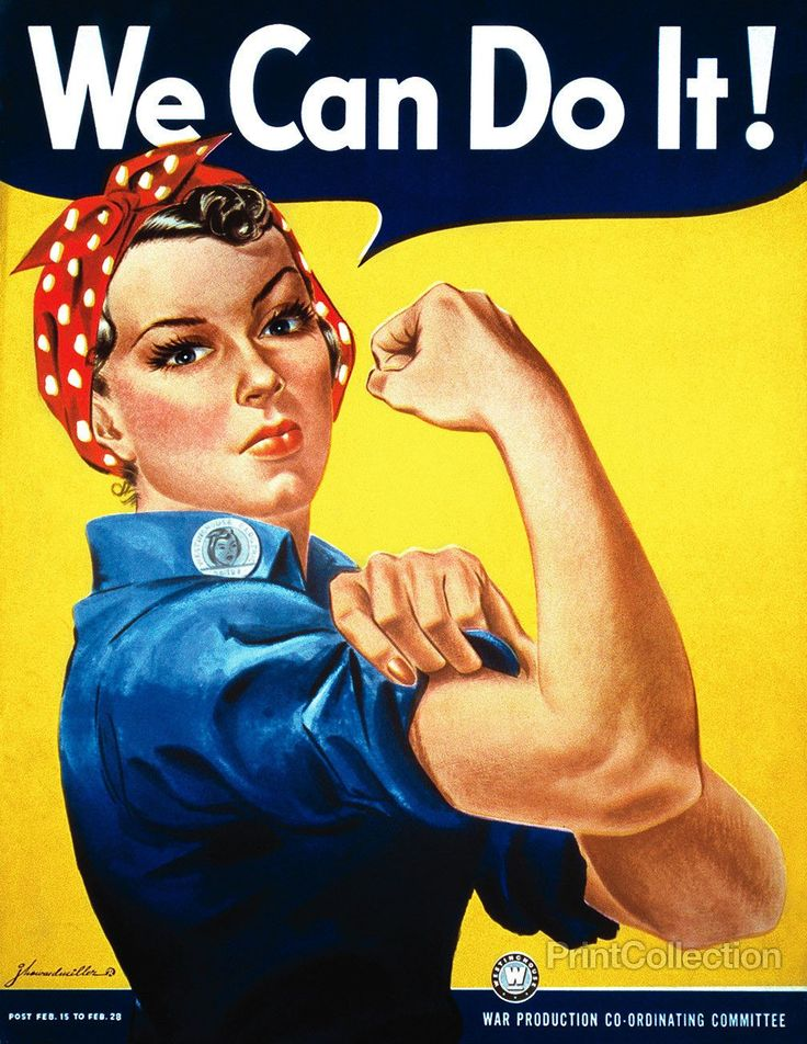 "PrintCollection - ""We Can Do It"" Rosie the Riveter"